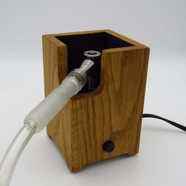 Oak Vaporizer Enail with Standard Titanium Hand-piece and Glass Handle
