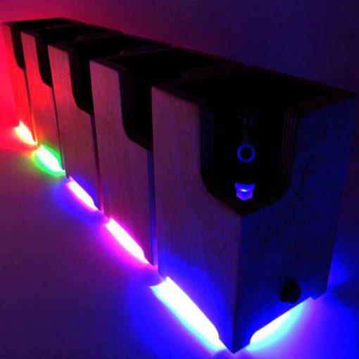 lined-up Ditanium Vaporizer Enails with LEDs